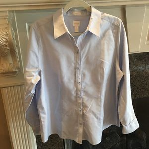 ❤️ Classic Chico's No Iron Button Down Blouse